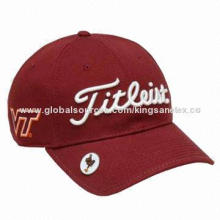 Adult baseball cap, 3D embroidery and flat embroidery for logo, top button